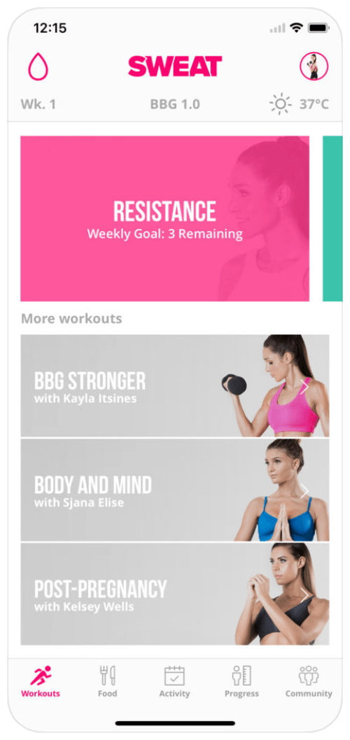 I Tried Kayla Itsines' Sweat App For The First Time And This Is Why I LOVE It