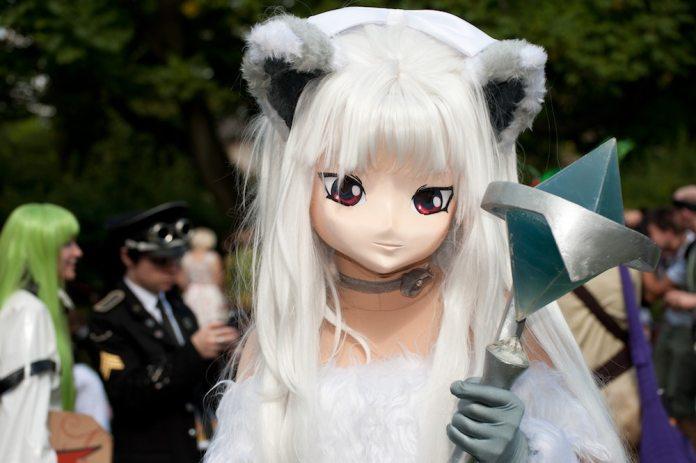 An anime character cosplay