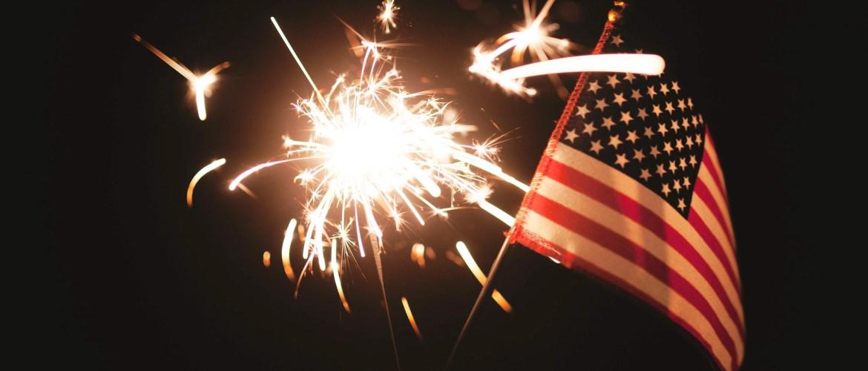 Hospitality internship USA flag and fireworks