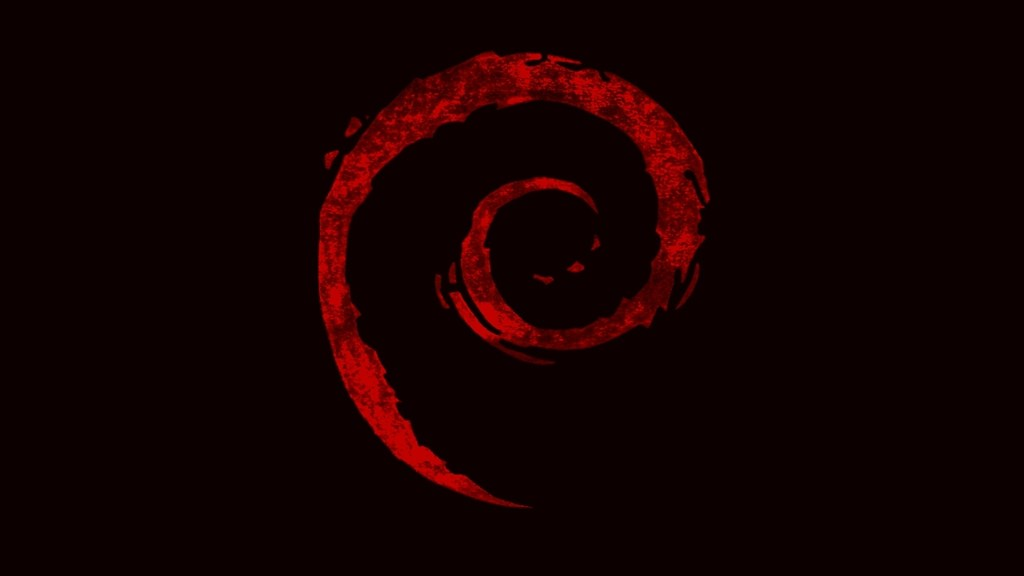 Debian Logo on Black