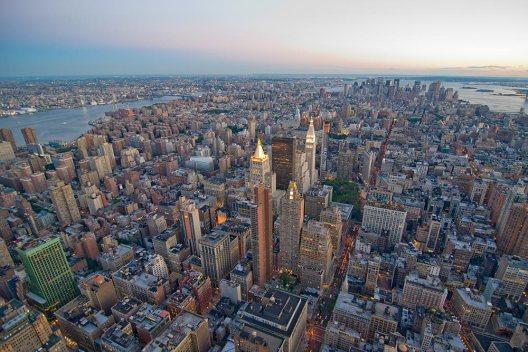 Vista aérea de New York.