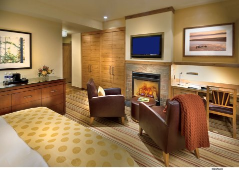 King Guestroom fireplace view