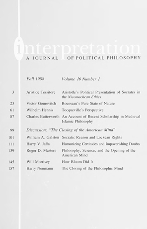 Essays on the Closing of the American Mind