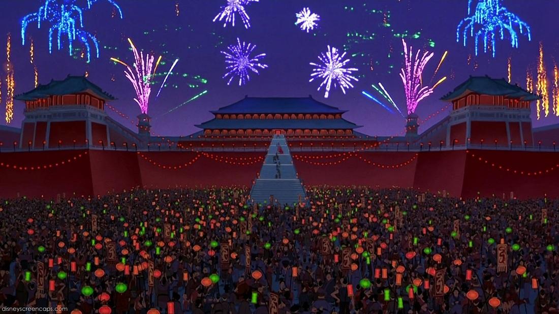 Image result for mulan 1998 forbidden city