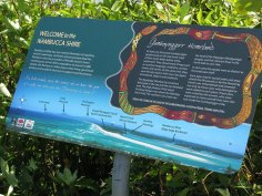 Indigenous Signs at Captain Cooks Lookout