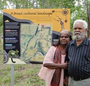 Flat Camp aboriginal sign