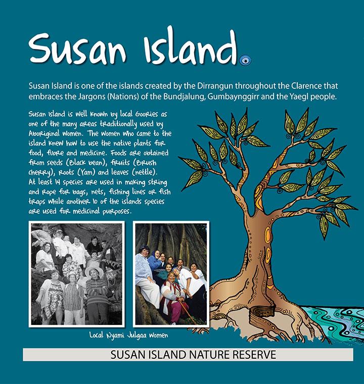 Susan Island Aboriginal Signs