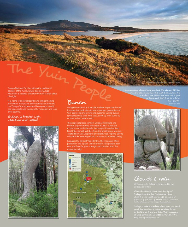 Gulaga Aboriginal Interpretive Signs