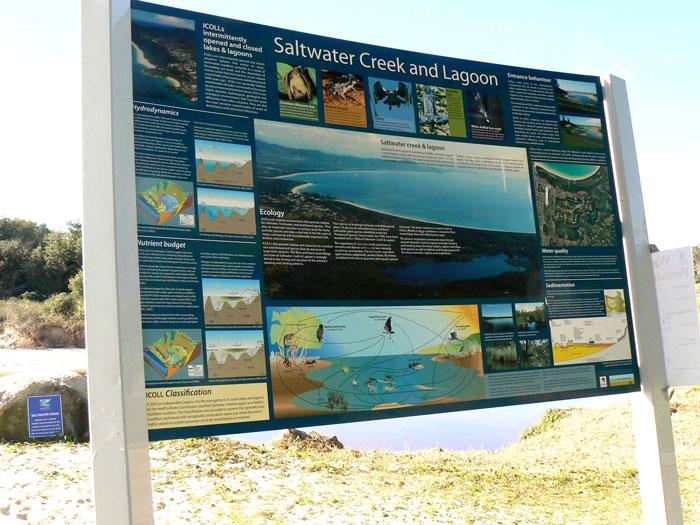 Information Signage - Saltwater Creek, South West Rocks