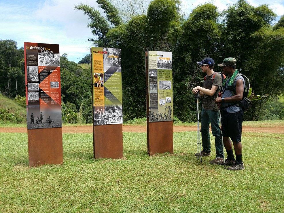 Kokoda Track, Owers Corner interpretive signage