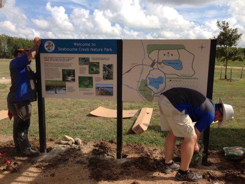 City of Rosenburg signage installation