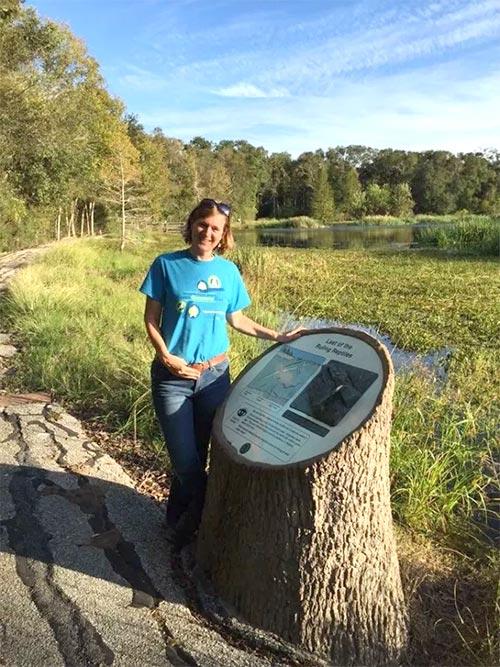 Amanda Hughes of Interpretive Insights at Creekfield Lake Nature Trail