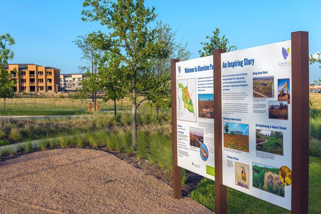 HILLWOOD BLUESTEM Park Sign