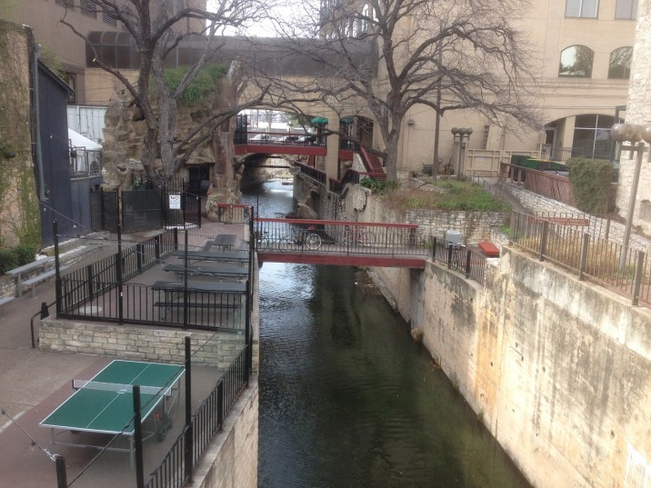 Ping pong by the river in Austin