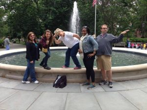 The Interprose team, going with the flow in Washington Square