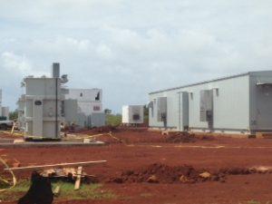 A solar storage installation in Kauai
