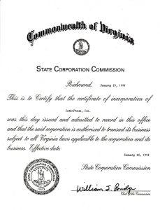 incorporation paper
