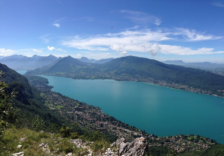 Lake Annecy, a great place for wild swimming while Interrailing