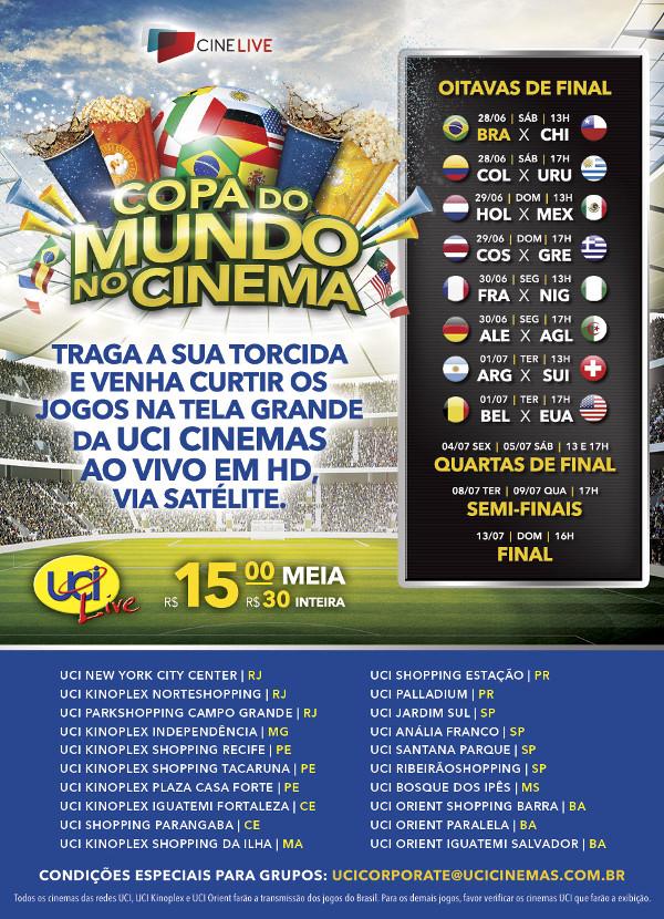Copa do Mundo no Cinema UCI em Curitiba