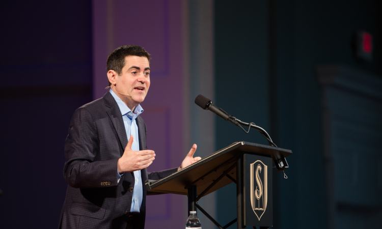 Russell Moore talking about 'Onward' at SEBTS' Page Lecture series