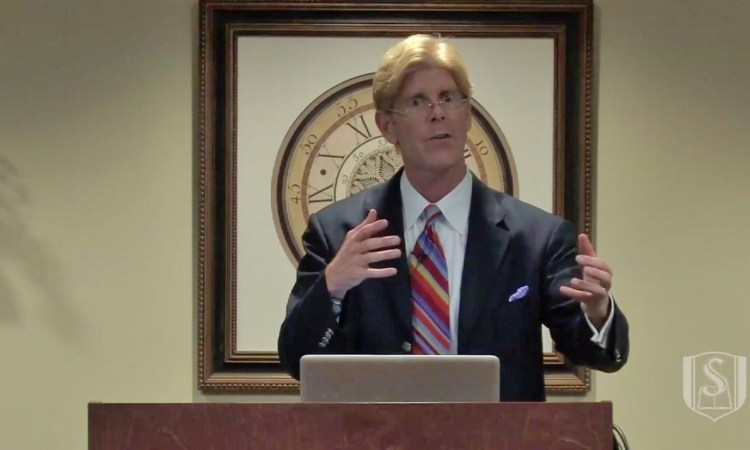 Jay Richards speaking on 'Money, Greed and God' at Southeastern Seminary