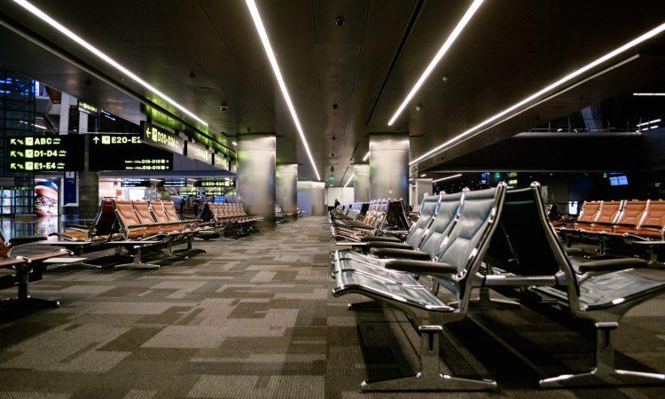 empty airport and COVID-19 (credit: Marylou Springer at SEBTS)