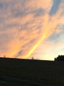 Intersein Sonnenuntergang