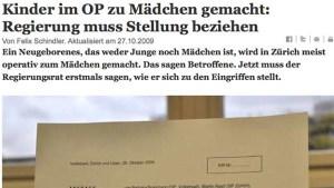 Zurich Tages-Anzeiger, 26 October 2009