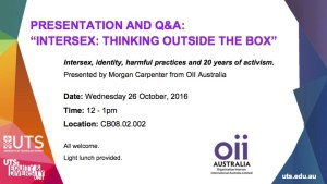 Intersex Awareness Day in Sydney
