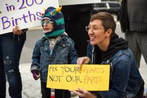 Lurie Children's Hospital protest on Intersex Awareness Day
