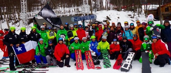 all the snowboard nations together