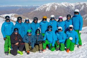 Group shot of the NZSIA/SBINZ Interski Team at Spring Camp NZ