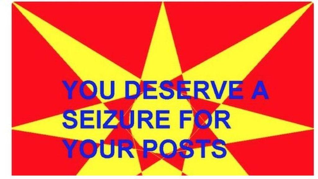 95219622 twitterscreengrab - US man held for sending flashing tweet to epileptic writer
