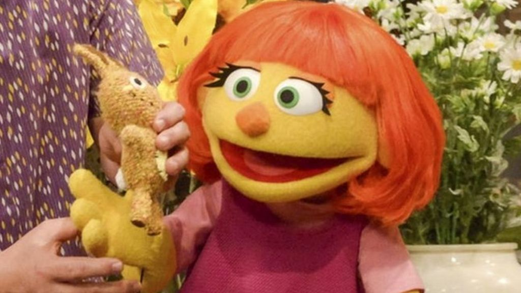 95231010 julia - Sesame Street to debut Julia, a muppet with autism