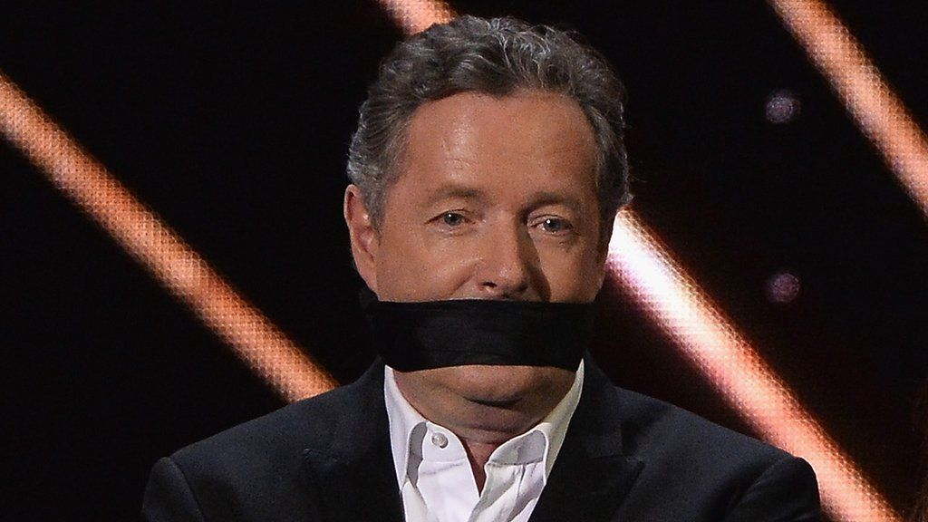 95266451 piersgaggedgetty - Piers Morgan to be silenced on Twitter