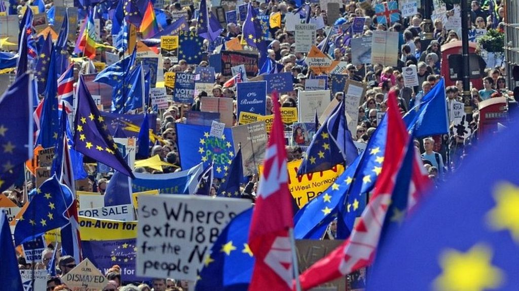 95316932 mediaitem95316931 - Thousands take to streets in anti-Brexit London march