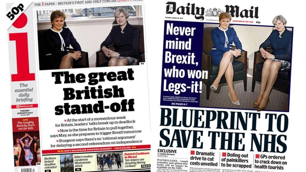 95348793 index - Newspaper headlines: May-Sturgeon 'stand-off' and 'choking' EU red tape