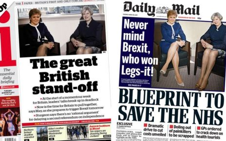 95348793 index - Newspaper headlines: May-Sturgeon 'stand-off' and 'choking' EU red tape