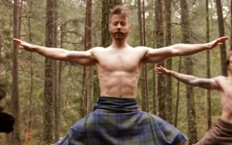 95391165 yoga2 - Kilted yoga star targeted by homophobic hate mail