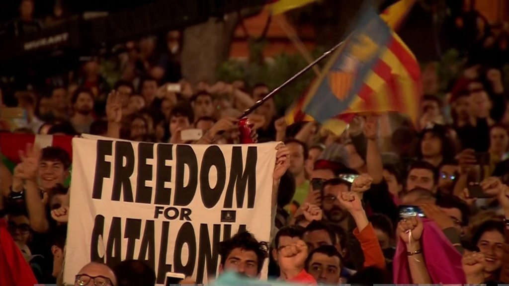 p05hs8ry - Catalan referendum: Catalonia has 'won right to statehood'