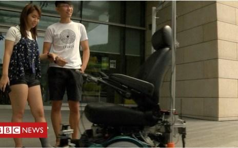 102153551 p06bsrjk - Driverless wheelchairs 'bring independence'