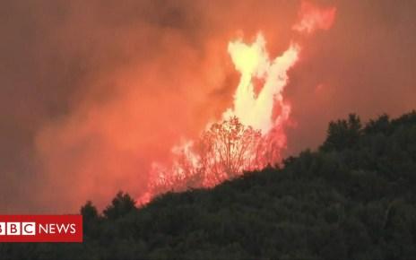102198827 p06c2p77 - Wildfire spreads across Northern California