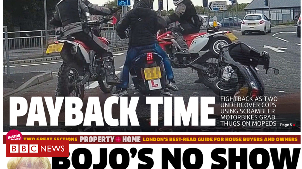 102200970 metro - Newspaper headlines: 'Bojo's no show' and Truss's tax attack