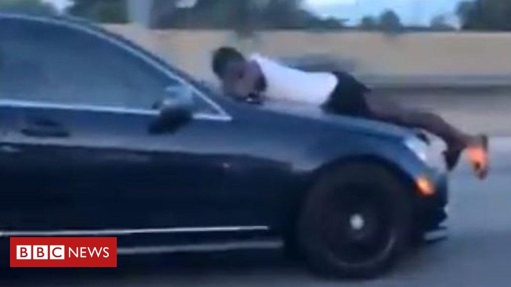 102255062 c2e8ccfc 5830 49ea 80f9 510aacc65ff0 - 'I'm on top of a speeding vehicle, please help me'