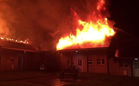 p069xq2q - Truro fire: Blaze destroys sheltered homes