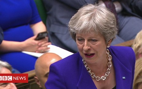 102379534 p06cv5jb - PMQs: May mixes her Brexit words on UK leaving the EU