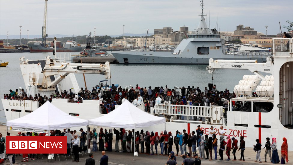 102493832 hi047719885 - Italy accuses migrants of hijacking rescue ship off Libya
