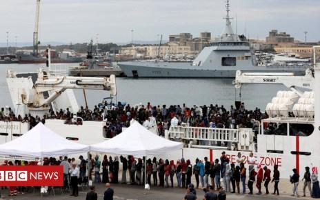 102493832 hi047719885 - Italy accuses migrants of hijacking rescue ship off Libya