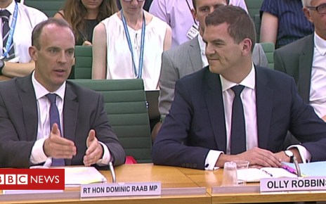 102675660 mediaitem102675659 - Brexit: Dominic Raab on 'shifting of Whitehall deckchairs'