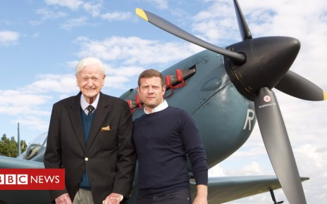 102722518 tomneilanddermotolearymf5b6260 3 - Dermot O'Leary tribute after Battle of Britain ace Tom Neil's death